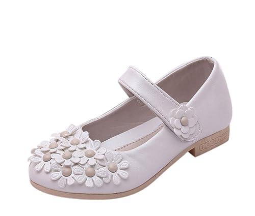 EOZY Zapatos de Vestir Niñas Flores Para Fiesta Danza Princesa Cierre: Amazon.es: Zapatos y complementos
