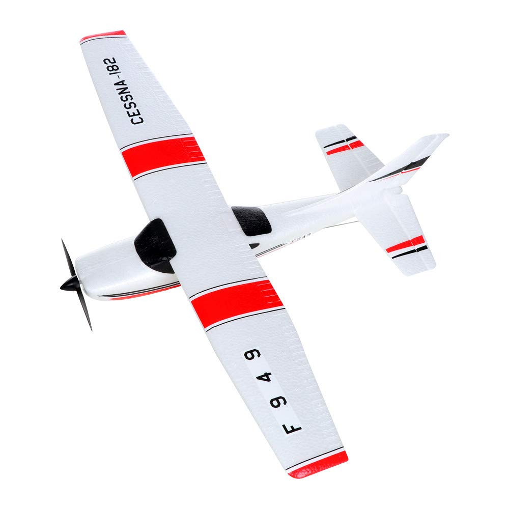 Ljnuanrg RC Airplane Aircraft - F949 3CH 2.4G Radio Contro Airplane RTF Glider EPP Composite Material,Suitable for Beginners and Intermediate Flight Game Players. (White)