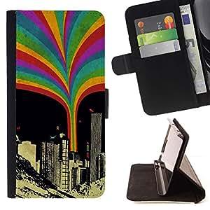 Momo Phone Case / Flip Funda de Cuero Case Cover - Rainbow Squirt Urbano;;;;;;;; - LG G4