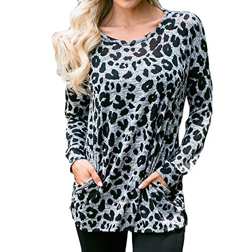 Women's Long Sleeve Hoodie Plus Size Pullover Pocket Sequins Print Blouse Top ()