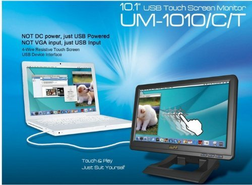 LILLIPUT UM-1010/C/T 10.1'' USB Touch Screen LED Monitor High Resolution 1024*768 BY LILLIPUT OFFICIAL