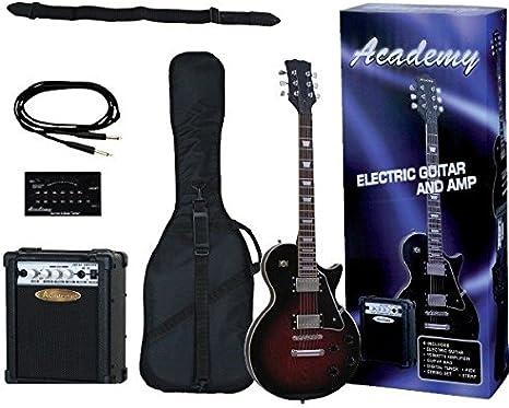 GUITARRA ELECTRICA-Academy Guitarra Tipo Les Paul (Negro) (Pack ...