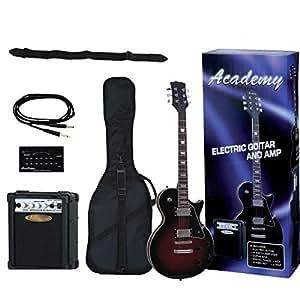Guitarra electrica academy guitarra tipo les paul negro for Guitarras electricas baratas