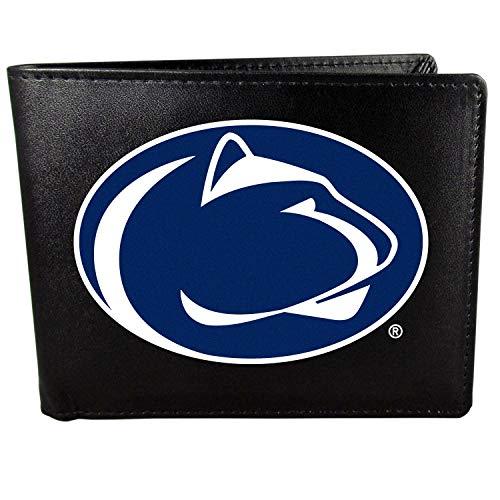 Siskiyou NCAA Penn State Nittany Lions Unisex SportsLeather Bi-fold Wallet, Large Logo, Black, One Size