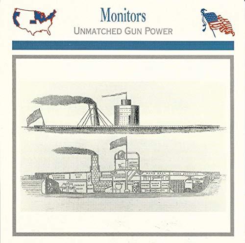 1995 Atlas, Civil War Cards, 40.11 Monitors, Ironclad Ships