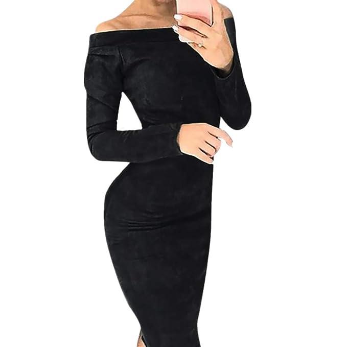 Vestidos Fiesta Mujer, Lunule Moda Vestido Sexy Mujer Sólido ...