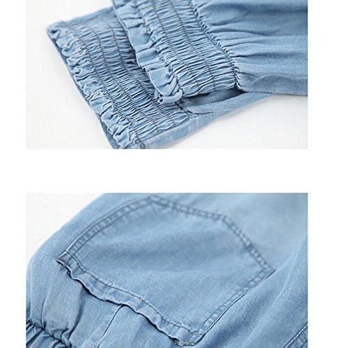 En Dlav En Jeans Dtresse Femmes Pour Jeans ADEMI Blue Extensible lastique Denim wxqaX1YBtB