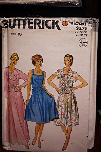 (Butterick Pattern 4209 Sz 16 Misses Petite Jacket & Dress UNCUT)
