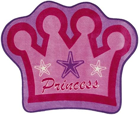 Cartoon Pink Princess Crown Rug Girl Bedroom Decoration Baby Early Education Toddler Game Toy Rug 50cmx80cm