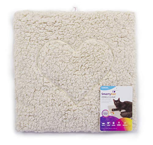 SmartyKat Crinkle Cloud Plush Crinkle Cat Mat and Bed 2