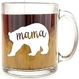 Mama Bear - Glass Coffee Mug …