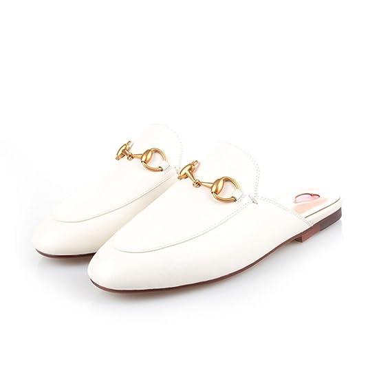 Y2Y Studio Chaussures Mules Ballerines Plate Cuir Suede Femmes de Marque  avec Brodées et Dentelle Chic Confortables pour Ete  Amazon.fr  Chaussures  et Sacs a4966dd5ef75