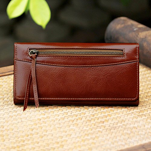 NOVICA Brown Leather Clutch, 'Touch of Love in Rust' by NOVICA (Image #6)