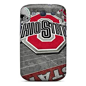 Best Hard Cell-phone Cases For Galaxy S3 (QJI8167GRtT) Custom High Resolution Ohio State Pattern