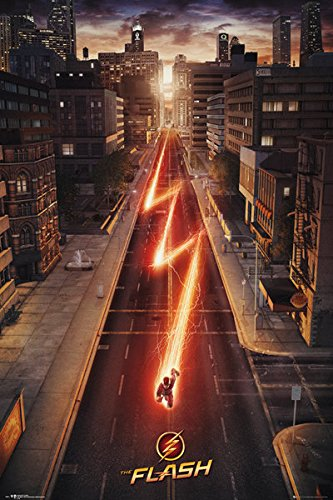 The Flash - TV Show Poster / Print Cityscape