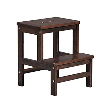 Tremendous Amazon Com Step Stools Solid Wood 2 Tiered Ladder Stool Alphanode Cool Chair Designs And Ideas Alphanodeonline