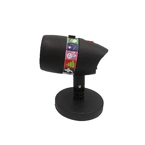 1 proyector LED con 12 diseños de Slides portátil LED recargable ...