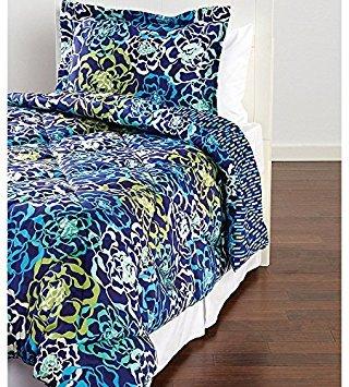 Vera Bradley Katalina Blues Twin/Twin XL Comforter Set - Navy Aqua - Vera Comforter