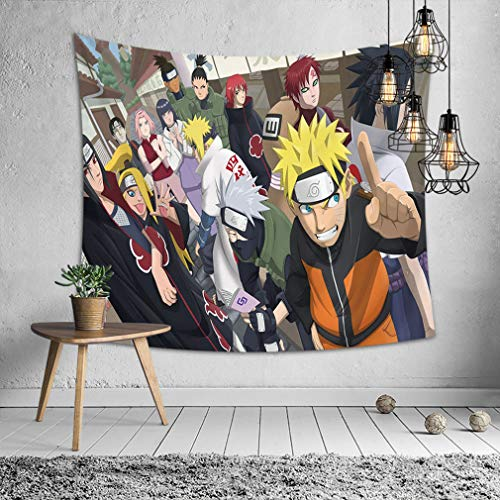 Baisheng Indian Mandala Wall Hanging Tapestry Hippie Tapestries Bedding Bedspread, Picnic Beach Sheet, Table Cloth, Decorative Wall Hanging (Anime Naruto 7-3929Inch/10075cm)