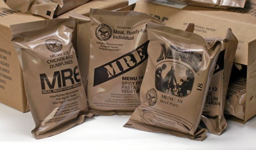MREs (Meals Ready-to-Eat) Genuine U.S. Military Surplus Assorted Flavor (6-Pack) (Army Food Packs)
