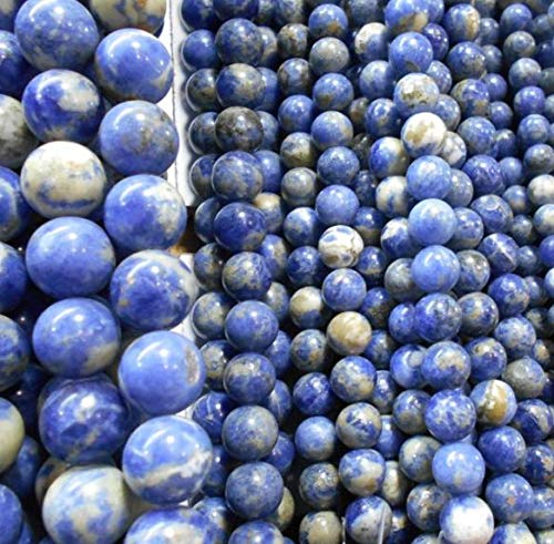 Calvas AAA+ Blue Aventurine dumortierite Natural Stone Beads for Jewelry Making DIY Material 4/6/8/10/ 12 mm Strand 16'' Wholesale - (Item Diameter: 4mm 95pcs)