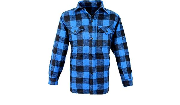 Outdoor Camisa De Leñador Woodcutter Azul y Negro M: Amazon ...