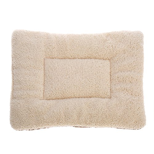 Fleece Pet Pad (Docooler Soft Puppy Dog Cat Bed Pad Mat Cushion Reversible Fleece Pet Kennel Crate Mat Washable )