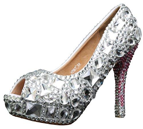 14cm Mujer Heel Silver Miyoopark Zapatos Con Tacón wtcqwzXgT
