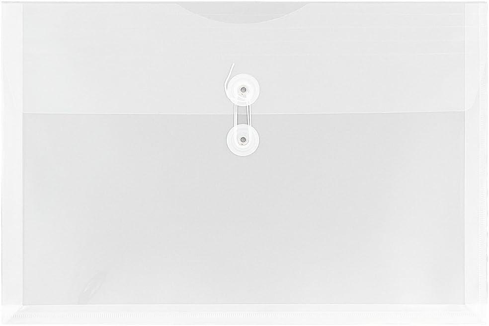Busta con un Libretto Grande 247,6 x 31,8 x 368,3 mm 12//Confezione JAM PAPER Porta Documenti in Plastica con Chiusura a Bottoni e Stringhe Verde Lime