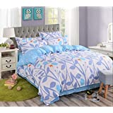 Ahmedabad Cotton Comfort 144 TC Cotton Bedsheet with 2 Pillow Covers - King Size, Multicolour