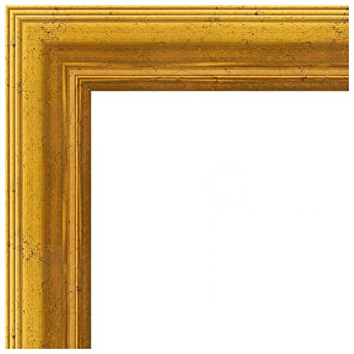 2WOMB-847-2186-21x24 ArtToFrames 21x24 inch Gold Foil with Steps Wood Picture Frame