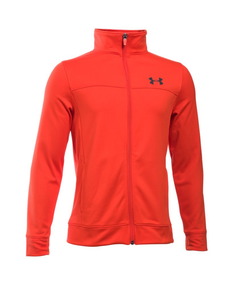 Under Armour Boys Pennant Warm-Up Jacket, Volcano, XS (7 Big Kids)