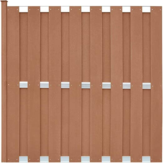 ghuanton Panel de Valla con 1 Poste WPC 180x180 cm marrónBricolaje Vallas de jardín Paneles de Vallas: Amazon.es: Hogar