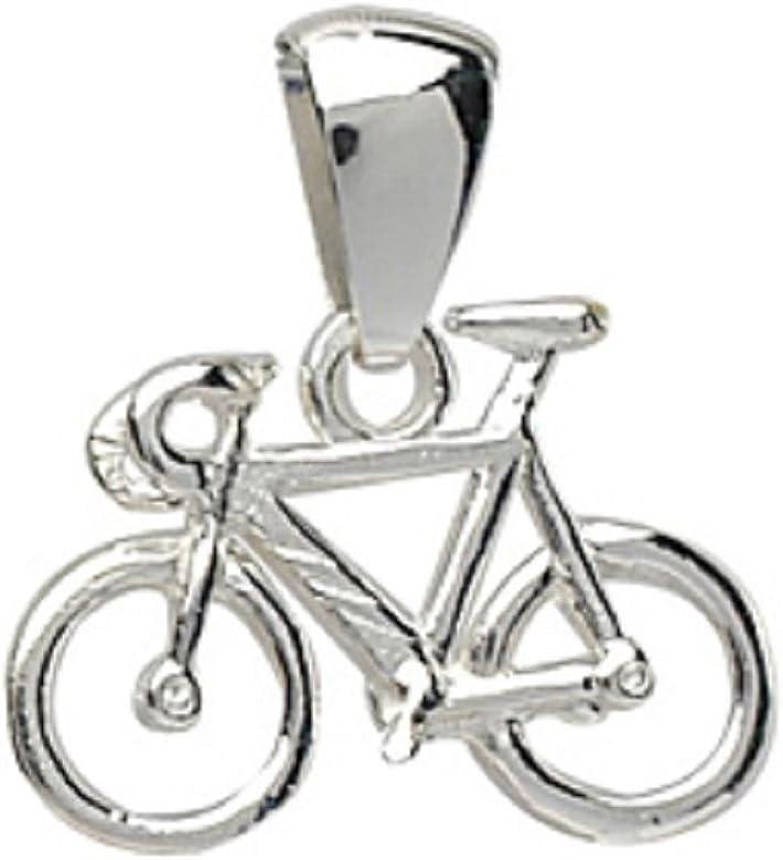 Helios Bijoux – Colgante bicicleta carrera + cadena 50 cm – Plata ...