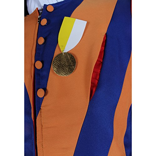1791's lady Men's Carnival Switzerland Soldiers Swiss Guard Uniform Cosplay Costume L by 1791's lady (Image #6)