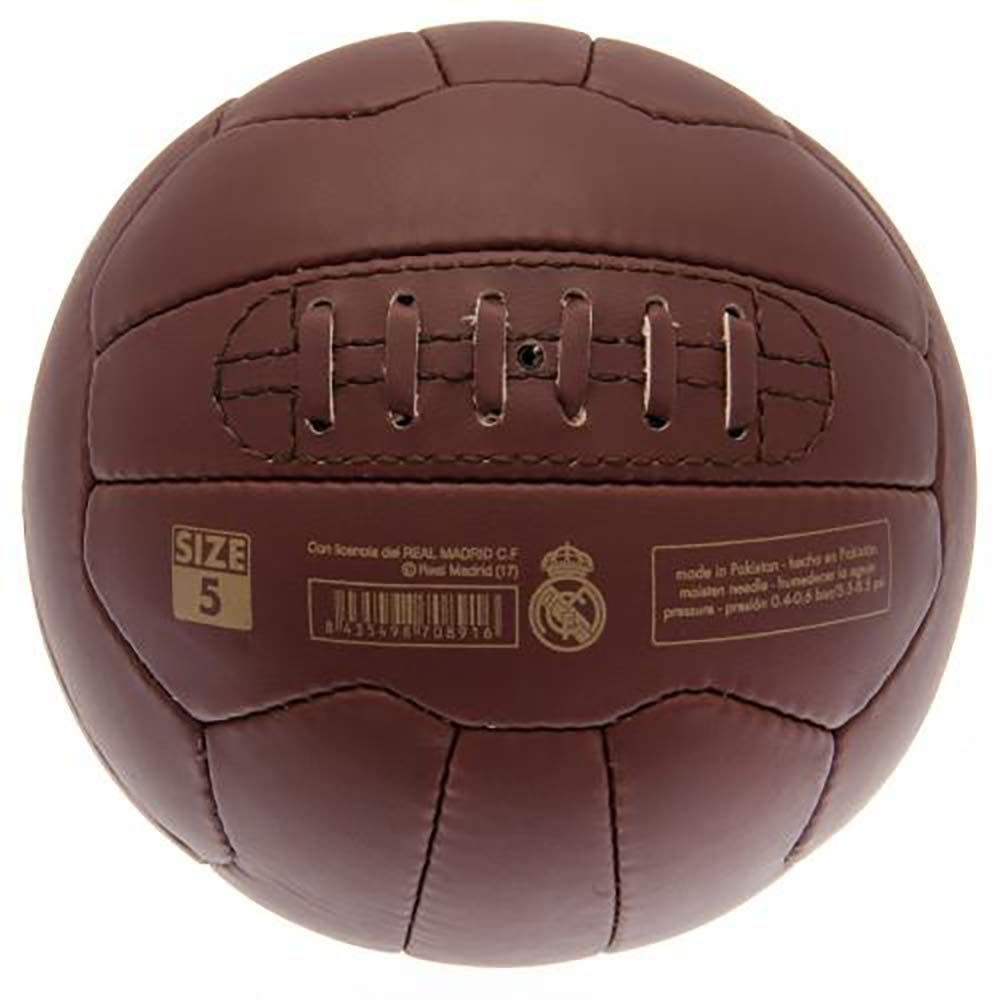 Official Licensed Real Madrid Retro Heritage Leather Football
