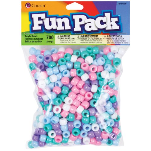 (Cousin Fun Packs 700-Piece Pastel Pony Beads)