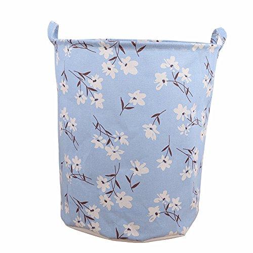 Vcenty Storage Basket/Bag/Box Waterproof Canvas Laundry Clothes Basket Storage Basket Folding Storage Box Decorative Color Design, Perfect Organizer for Toy Storage Books,Sundries