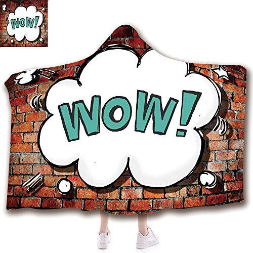 Fashion Blanket Ancient China Decorations Blanket Wearable Hooded Blanket,Unisex Swaddle Blankets for Babies Newborn by,Brick Wall British Backdrop Uk English Pop Art,Adult Style Children Style