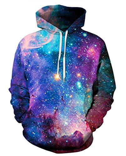 Imprimé Unisexe galaxie Homme Sportif Sweat 5 Pull Sweat shirts Leslady Casual À Capuche 3d Brillant BInRBqZ8W