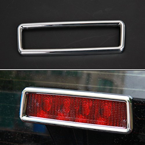 BORUIEN For Jeep Wrangler 2007-2016 ABS Trun Tail High Mount Stop Lamp Brake Light Lamp Cover Trim Sticker Car Styling Exterior Accessories (chrome (Chrome Trim Car Accessories)