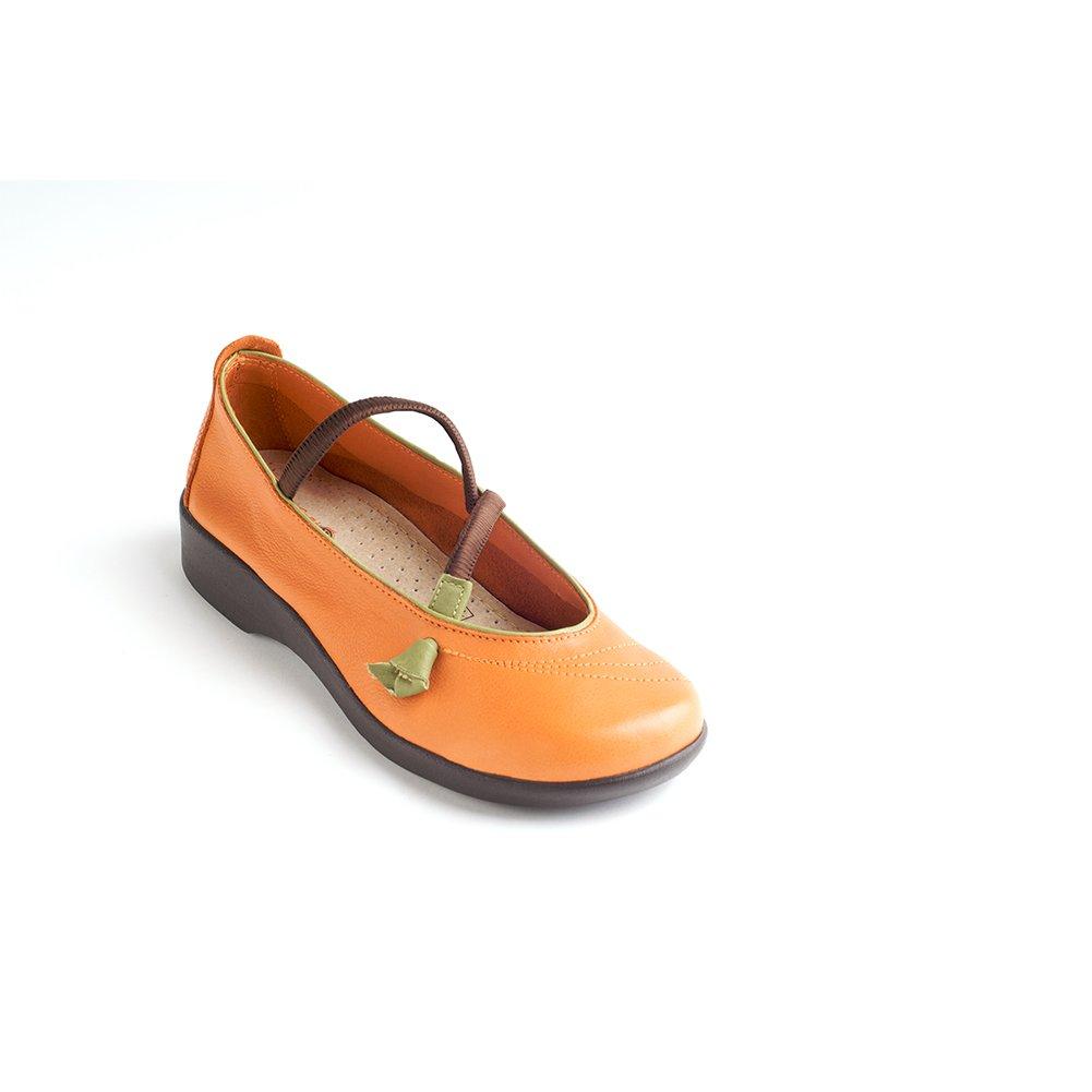 Arcopedico Women's Vitoria Mary Janes,Orange Leather,42 M EU by Arcopedico