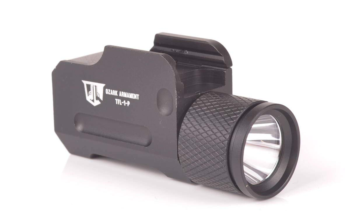 OZARK ARMAMENT 500 Lumen Tactical Pistol Light with Constant and Strobe Mode for Full Sized Pistols by OZARK ARMAMENT