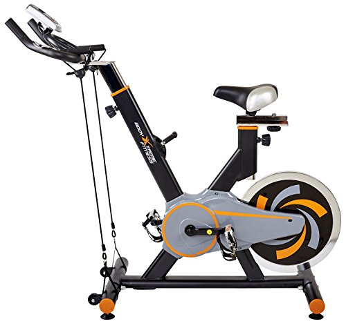 Body Xtreme Fitness Exercise Bike + Resistance Bands, 40lb Flywheel, Pulse Sensors, Monitor, Toe Straps, In-Built Wheels, Water Bottle with BONUS Cooling Towel! Review