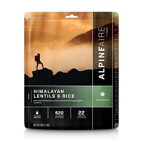 AlpineAire Foods 60443 Himalayan Lentils & Rice Vegetarian (Serves 2) - Himalayan Lentils