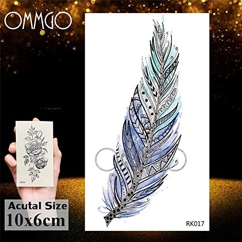Yyoutop Tribal Diamond Owl e Tattoo Sticker para Mujeres Body Arm ...