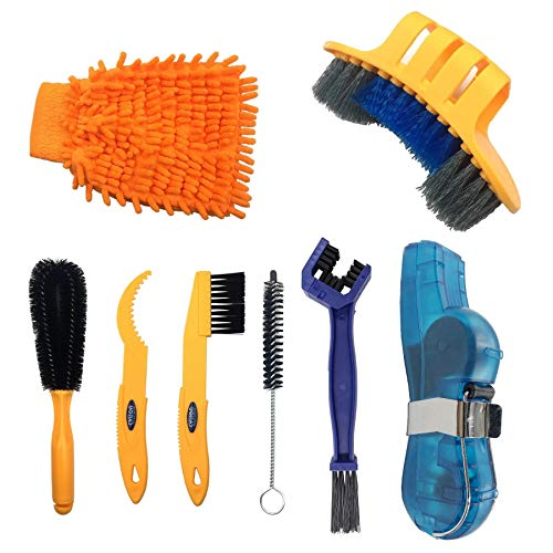 Anndason Precision Bicycle Cleaning Brush Tool Suitable for Mountain, Road, City, Hybrid,BMX Bike and Folding Bike (Style 3)