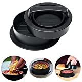 Yesurprise Non Stick Hamburger Patty Maker and Grill Press, 3-IN-1 ABS Meat Patty Mold For Regular Burgers, Stuffed Burgers and Sliders, Essential Kitchen Grilling Tool Accessories - Black