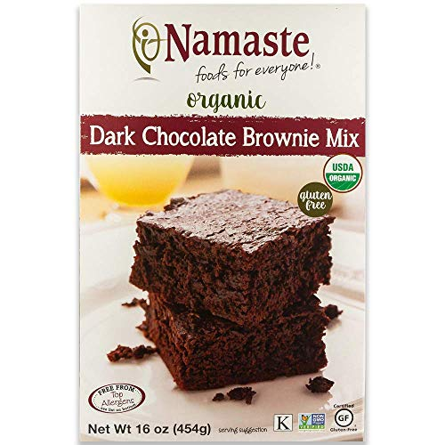 Namaste Foods Gluten Free Organic Dark Chocolate Brownie Mix, 16 oz (4 box)
