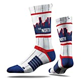 MLB Minnesota Twins Adult The North Pinstripes Strapped Fit 2.0 City Line Socks, One Size, White